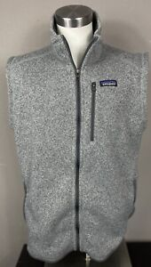 Patagonia Embroidered Men's Sweater Vest Full Zip Heather Gray Size XL