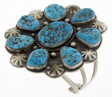 Natural Sleeping Beauty Turquoise Cluster Bracelet By Daniel Coriz