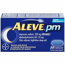 Aleve PM 220mg Naproxen Sodium 20 Caplets Each