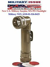 New Flashlight Olive Drab Fulton Military Issue Angle Head Flashlight MX-991/USA