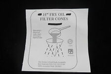 11 Inch Fry Oil Filter Cones - For cooking oil - Pack of 5 - 25 CM Free Postage
