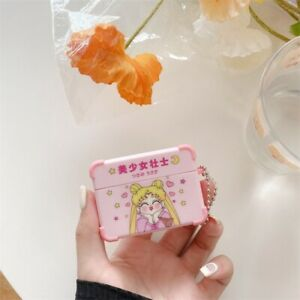 Anime Sailor Moon Airpods Protective Case Cover Chibi Moon For Gen 1 2 & Pro