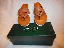 N/W/B Ralph Lauren Female  Rosalind Sandals T-an  Cla Tan Size 11M