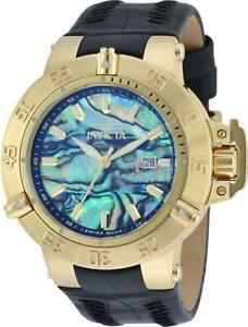 Invicta 19888 50mm Subaqua Noma III SWISS MADE Abalone Dial Gold Tone Mens Watch