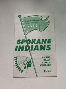 1961 PCL Spokane Indians Minor League Baseball Schedule Pacific Coast Champions
