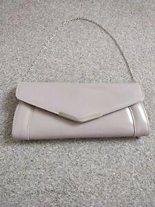 Ladies Beige Clutch Bag From Next