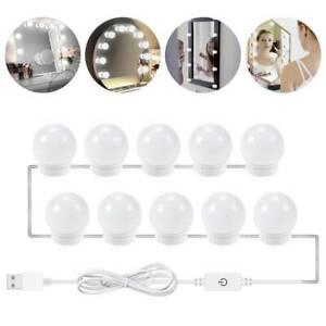 10 ampoules à intensité variable LED style hollywoodien vanité habillant kit d'é