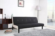 Schlafsofa Schlafcouch Garnitur Jugendbett Couch Sofa Schlaffunktion schwarz