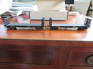 Set of 2 US Hobbies brass import HO scale 42' Woodracks Atlantic Coast Line