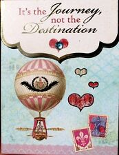 hOBBY Lobby Mini Gold Foil Gem Embellished Pocket Note Pad ~ Hot Air Balloon