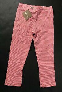 NWT Tea Red Striped Leggings Girl's Size 8