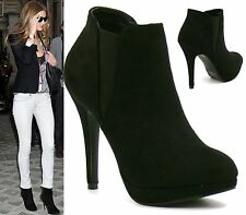 Elasticated Stiletto Heel Ankle Boots for Women