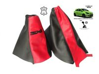 Gear & Handbrake Gaiter For Vauxhall Corsa D 06-14 Leather SXI Embroidery