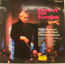 "HERBERT VON KARAJAN MEISTERKONZERT MIT DEN BERLINER PHILHARMONIKERN12"" LP (h894)"