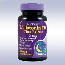 NATROL MELATONIN TR 5MG (100 TABLETS) time release recovery sleep support aid