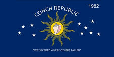 Wholesale Lot of 6 Key West Conch Republic Decal Bumper Sticker