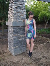 ladies short sexy bright and colorful dress