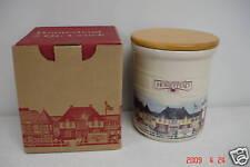 Longaberger 2 Quart Pottery Homestead Crock + Wood Lid
