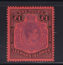 Leeward Is 1952, KGVI SG 114c, Perf 13, MLH, Lot 6062