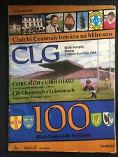 1984 GAA All-Ireland Hurling Final  CORK v OFFALY Programme