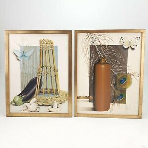 Pair of Surrealism Paintings Oil on Canvas by Raymond Goffin Belgium