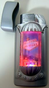 Las Vegas Light Up Lighter Welcome Sign Torch Tobacco Cigar Flashes Cigarette