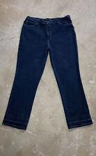 LEE Relaxed Fit 1889 High Rise Straight Dark Blue Denim Plus Size 18 Medium L30