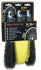 NEW! Mr Kleen Safe All Alloy Wheel Cleaning Wash Polish & Wax Brush Set Kit #453