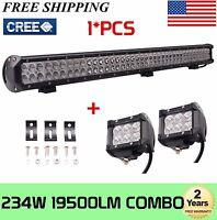 36 Inch 234W LED WORK LIGHT BAR FLOOD&SPOT OFFROAD Car Boat Truck SUV 18W 4INCH