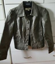 JUST JEANS Genuine Leather Jacket Size 8 Grey