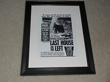 "Framed Last House on the Left Mini Poster, RARE! Wes Craven 14""x17"", USA Release"