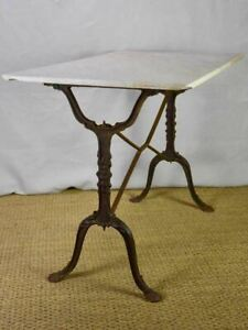 """Late 19th Century French rectangular marble bistro table 39½"""" x 24"""""""