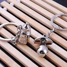 1 Pair Creative Baby Pacifier Feeding Bottle Key Ring Keyring Stylish Keychain