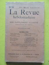 La Revue Hebdomadaire 1913 n° 52 Jean Aicard Un Feu de Noël