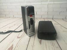Vintage Grundig Stenorette 2000 Dictaphone (inc. Tape) and leather case, retro