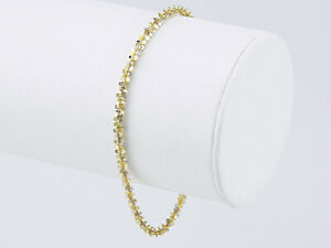 Armband Armkette 19 cm, 333 Gold, bicolor, Glitzereffekt!