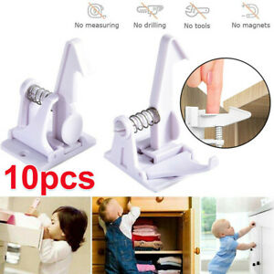 10Pcs Child Safety Cupboard Locks Baby Drawers  Cabinet Locks Kitchen Closets