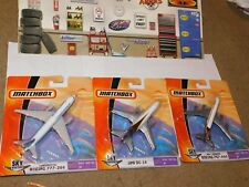 Lot of 3 Matchbox Skybusters SB13 DC-10 Boeing 777 747 UPS Diecast Airplane Air