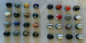 "Miniature NFL 2"" Plastic Helmets Lot of All 32 NFL Teams Football Decorations"