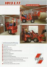Weidemann Hoftrac 1013 L17 Lader Prospekt 9/01 2001 Landmaschine Baumaschine