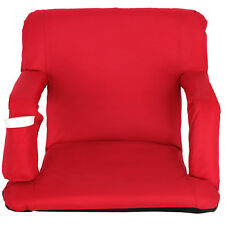 Portable Red Reclining Stadium Seat with Armrest, Cup Pocket Standard Adjustable