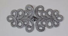 Elementi di fissaggio extra large Rana Chiusura Bottone colore: Argento metallizzato # E28