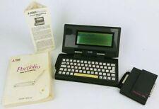 VTG Atari Portfolio Hand Held Computer HPC-004 & HPC-101 w/ Manual - TESTED