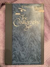 Vintage Parker Calligraphy Set in Case with Directions. Unused.