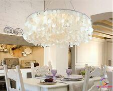 Mediterranean 60cm Shell Round Living Dining Modern Pendant Chandelier Lamp