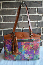 NWT $248 PATRICIA NASH POPPY TOTE CITRUS SUNRISE brown floral red green purple