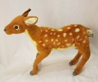 Hansa Deer Bambi Plush Stuffed Animal Hand Crafted Soft And Cuddly 14 inches
