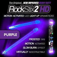 PURPLE ROCKSTIX MOTION ACTIVATED LED LIGHT UP DRUMSTICKS DRUM STICKS (FIRESTIX)