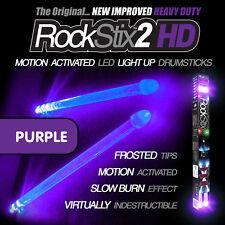 Purple RockStix2 HD - Heavy Duty LED Light Up Drumsticks (Firestix)