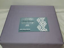 New NMK Textile Mills HOTEL GENEVE Light Plum Queen Sheet Set ~ 400 Thread Count